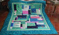 Gastgeschenke - Wee Wander Patchworkdecke - ein Designerstück von meine-bunte-flickenecke bei DaWanda Vintage Stil, Designer, Baby, Quilts, Blanket, Fabric, Round Round, Handarbeit, Creative