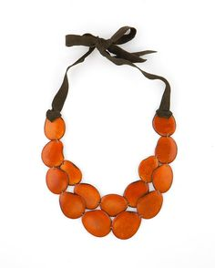 Burnt Orange SACHA Necklace by LaPucaraCollections on Etsy,