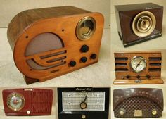 neat old radios. I have 2 old wooden ones...and they work.