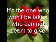 Leann Rimes-The Rose with lyrics - YouTube