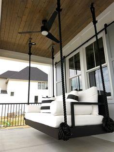 Crib Swing, Swing Beds, Bed Swings, Porch Swings, Home Swing, Swing Design, Modern Outdoor Furniture, Cool Beds, Floor Decor