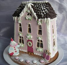 Gingerbread I love the shape of the windows and the big icicles