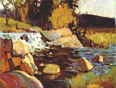 Tom Thomson, Canadian Group of Seven Canada Landscape, Landscape Art, Landscape Paintings, Abstract Paintings, Group Of Seven Artists, Group Of Seven Paintings, Canadian Painters, Canadian Artists, Emily Carr Paintings