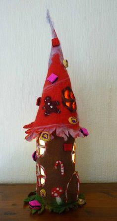 Tischlampen - Weihnachten,Filzlampe,Leuchte gefilzt,Märchenlampe - ein Designerstück von felted-art-to-wear bei DaWanda