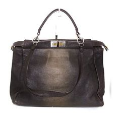 Pre-Owned Fendi Large Peekaboo Zucca Satchel Bronze Ombre (€1.410) ❤ liked on Polyvore featuring bags, handbags, neutral, print handbags, print purse, bronze handbag, shoulder strap handbags and ombre purse