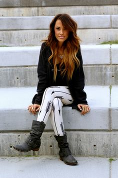 Hair and boots and leggings and everything
