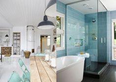 8x lichtblauwe accenten in huis