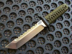 Custom Knife: What I call a NEAR-TANTO blade. Tanto designs can do must anything very well!