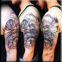 Tattood by Greg Couvillier! #best #beautiful #awesome #tattooed #tat, #tatts, #art, #instatattoo, #instaart, #sleevetattoo, #tattoist, #tattoos, #chesttattoo, #design, #ink, #handtattoo, #tattooed, #coverup, #amazingink, #tattoo, #tflers, #inked, #bodyart, #instagood, #tagsforlikes, #tattedup, #tatted, #inkedup, #tats, #blackandgrey, #blackandgray, #amazingink, #bodyart,#lafayette #la #louisiana #customink #ink #tattooed #tattooshop #colortattoo #lion #clock #photorealism