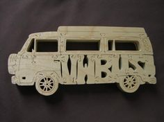 Vintage VW Bus Volkswagen Van Puzzle Wooden Toy Hand by Puzzimals, $15.99