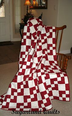 Red and White quilt Dominoes Quilt Pattern. One in every color please!