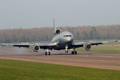 Lockheed TriStar retires from RAF after 30 years service. One of the last of the fleet arrives in Leicestershire with as yet, an uncertain future outside of the RAF apart from scrapping.