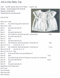 Nice Copy of All In One Baby Top Pattern