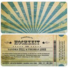 Wedding invitation card – vintage – used look – ticket – ticket - wedding decoration Wedding Invitation Cards, Ticket Invitation, Retro, Wedding Decorations, Vintage, Grunge, Wedding Stuff, Ebay, Interior