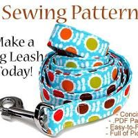 Dog Leash Sewing Pattern - Illustrated G