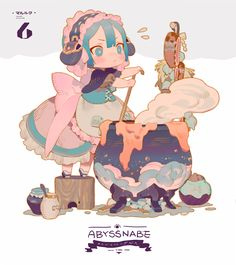 Foto from The Abyss Game Character, Character Concept, Concept Art, Pretty Art, Cute Art, Cute Characters, Anime Characters, Anime Chibi, Anime Art