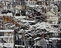 Edward Burtynsky, Rock of Ages #17, Abandoned Granite Section, Adam-Pirie Quarry, Barre, Vermont, 1992