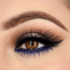 Blue eyeliner/mascara