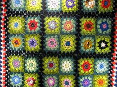 Kaleidoscope Granny Square Afghan.
