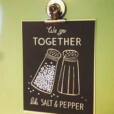 cute print salt & pepper