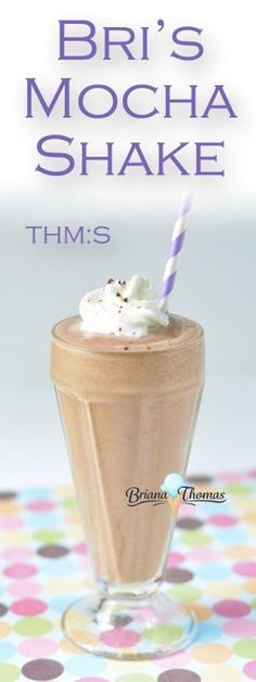 Bri's Mocha Shake is my healthy version of a Jamocha Shake! It's THM:S, low carb, and sugar free - and totally creamy and delicious!