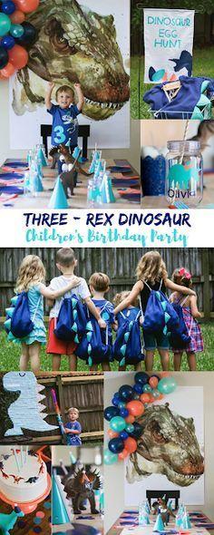 Jacob is a Three-Rex {Dinosaur Birthday Party} Jacob ist eine Drei-Rex {Dinosaurier-Geburtstagsfeier Third Birthday, 3rd Birthday Parties, Birthday Fun, Birthday Memes, Birthday Ideas, Dinosaur Birthday Party, Elmo Party, Mickey Party, Birthday Invitations Kids