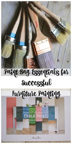 Here's what we do before we begin to paint. Paint bag essentials for successful furniture painting. What's in My Paint Bag