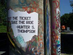 hunter s thompson.  always.