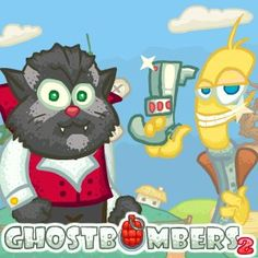 Mr.Cat found himself a new #house! He didn't expect to find #ghosts there, and even #vampires! Well, who you gonna call if you have a problem with ghosts? #Ghostbombers. #Halloween #Arcade #Game.