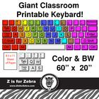 Are you teaching a technology or keyboarding class? Do you have a computer lab you need to decorate? This giant printable keyboard would be great to print out, cut the keys apart, laminate and place on your wall. Keys come in two & n. Elementary Computer Lab, Computer Lab Classroom, Computer Literacy, Computer Teacher, Computer Class, The Computer, Computer Lab Decor, Classroom Fun, School