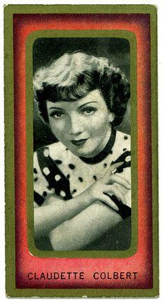 Cigarette Card - Claudette Colbert   Flickr - Photo Sharing!