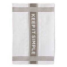 Keep it Simple Linen Tea Towel in Slate $20