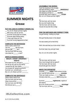 Grease - Summer nights