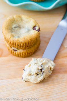 Chocolate Chip Cookie Dough Cupcakes with cookie dough icing!
