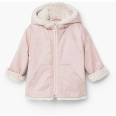 Faux Shearling Jacket (305 EGP) ❤ liked on Polyvore featuring outerwear, jackets, quilted hooded jacket, sherpa fleece jacket, quilted jacket, zipper jacket and sherpa jacket