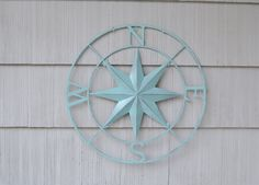 Metal Compass Rose. Metal Wall Art. Nautical Wall Art.