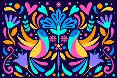 Concepto de colores de fondo mexicano | Free Vector #Freepik #freevector #fondo Mexican Flowers, Exotic Flowers, Mexican Embroidery, Floral Embroidery, Mexican Halloween, Seamless Textures, Vector Freepik, Mexican Folk Art, Halloween Design