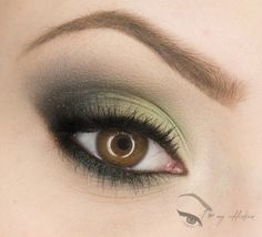 I always loved how green eyeshadow or liner looks on my brown eyes. I need to figure out how to do this!  Elegant green – Makeup Geek Idea Gallery