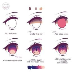 anime eyes drawing tutorials ~ anime eyes drawing – anime eyes drawing male – anime eyes drawing sketches – anime eyes drawing tutorials – anime eyes drawing easy – anime eyes drawing colour – anime eyes drawing reference – anime eyes drawing step by step Eye Drawing Tutorials, Digital Painting Tutorials, Digital Art Tutorial, Art Tutorials, How To Draw Anime Eyes, Manga Eyes, Easy Anime Eyes, Drawing Skills, Drawing Tips