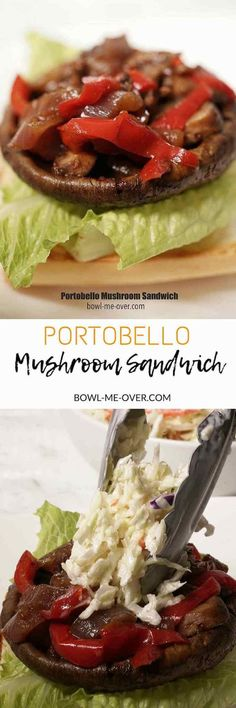 This Portobello Mushroom Sandwich is the BEST! Big, rich and meaty this vegetarian burger will make you a believer of a meatless meal! It can be made in the slow cooker or Instant Pot and it's super easy. via @bowlmeover
