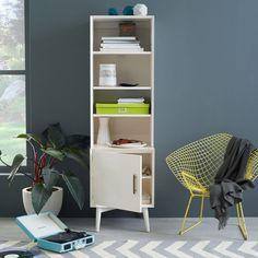 Mid-Century Bookcases - White