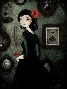 art illustrations, little red, ann juli, family portraits, annejuli aubri, poppi, artist, art collector, sweet nothings