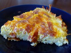 Quiche with Hash Brown Crust | Add 1/3 cup Parmesan cheese and salt and pepper to taste.