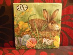 Ideal Home Range Bunny and Chicks Luncheon Napkin 20 Count Easter Eggs Grass #IdealHomeRange