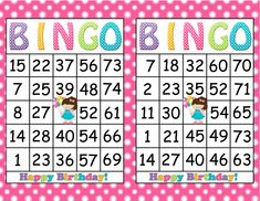 """This printable Birthday Party Bingo Game has been created using 8 1/2"""" x 11"""" with 300 dpi resolution for great printing quality and ease. Description from etsy.com. I searched for this on bing.com/images"""