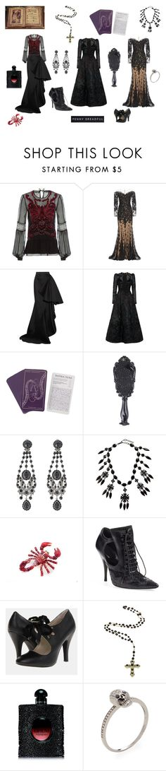 """Penny Dreadful Vanessa Ives"" by kaibex on Polyvore featuring Alberta Ferretti, Zuhair Murad, Lanvin, Elie Saab, Givenchy, Twin-Set, Yves Saint Laurent, Leota, Shay and women's clothing"