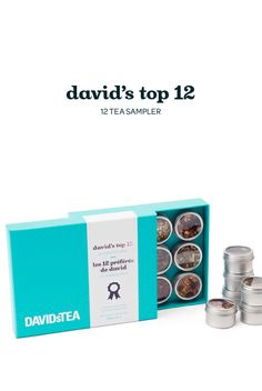 FALL 2014 - A collection of our twelve most popular teas, in a beautiful bright teal box.