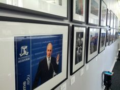 This photo of Paul Keating, delivering his lecture on privacy, was included in the exhibition celebrating the University's 160th Anniversary, December 2013