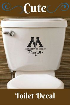 Love this Idea. Would look cute in my daughters bathroom...or mine! LOL  #harrypotter #toilet #ministryofmagic #ad