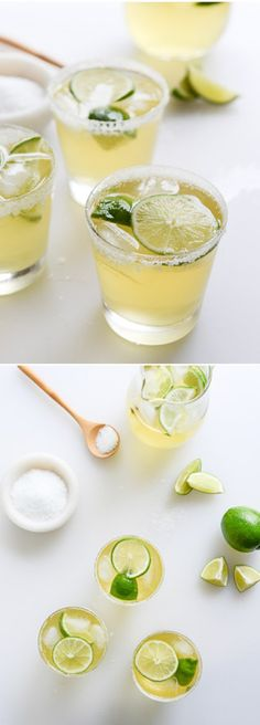 GINGER BEERGARITAS! Margaritas made with ginger beer - so good! I howsweeteats.com